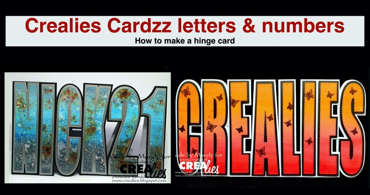 Crealies Cardzz letters & numbers  (English spoken)