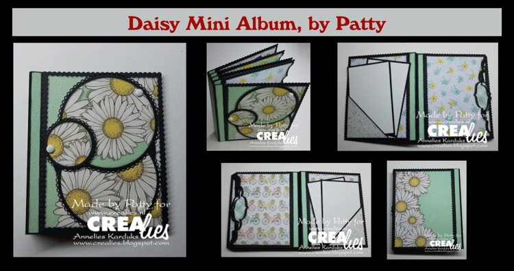 Crealies Daisy Mini Album, by Patty