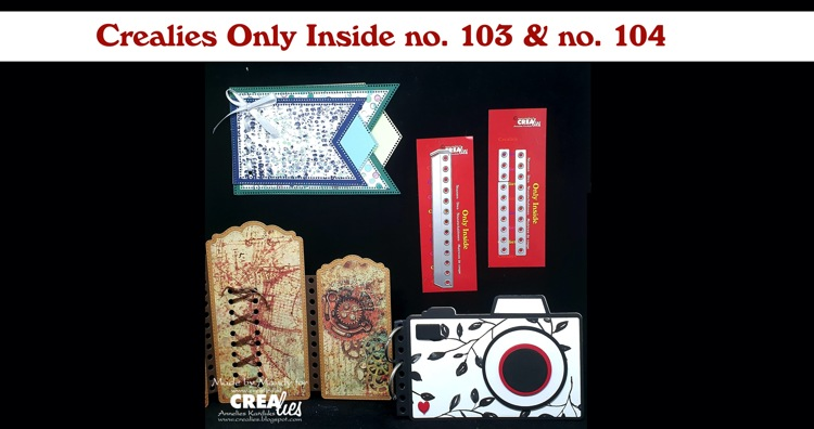 Crealies Only Inside no. 103 & no. 104