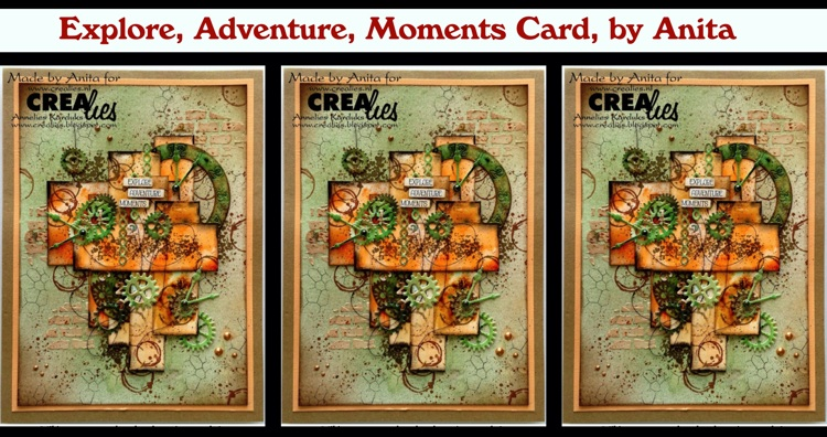 Crealies Explore, Adventure, Moments Card, by Anita
