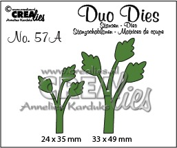 Duo Dies no. 57A, Leaves 11 mirror image