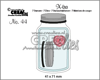 X-tra stansen no. 44, Glazen pot met deksel, middel