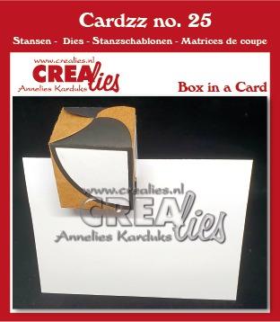 Cardzz stansen no. 25, Doosje in een kaart