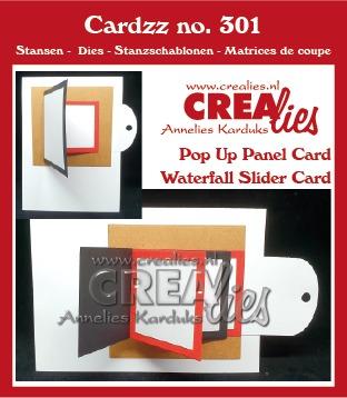 Cardzz stansen no. 301, Waterval schuifkaart + Omklap schuifkaart