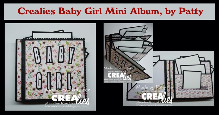 Crealies Baby Girl Mini Album, by Patty