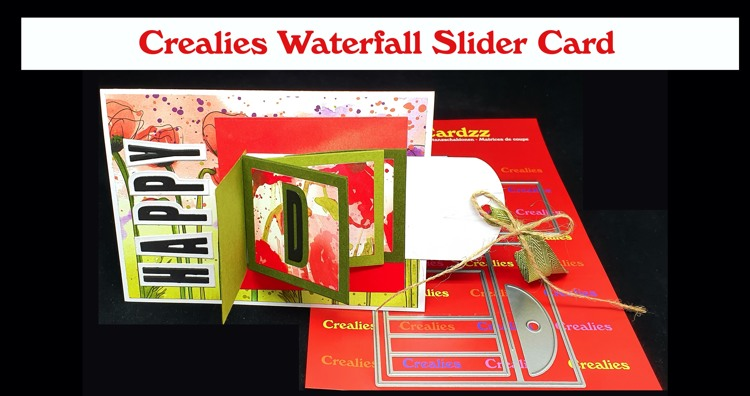 Crealies Waterfall Slider Card (English spoken)