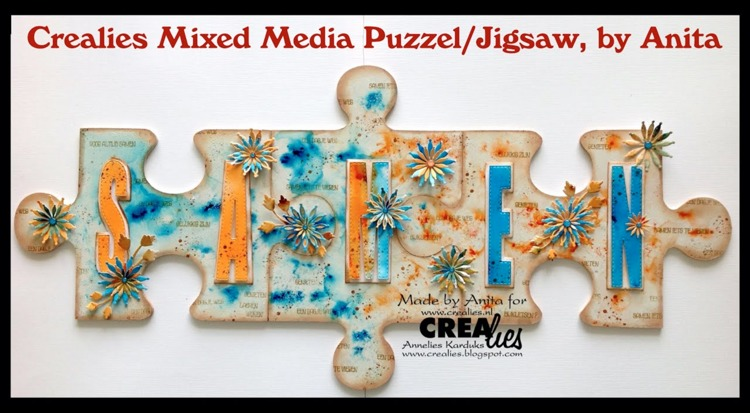 Crealies Mixed Media Jigsaw, by Anita