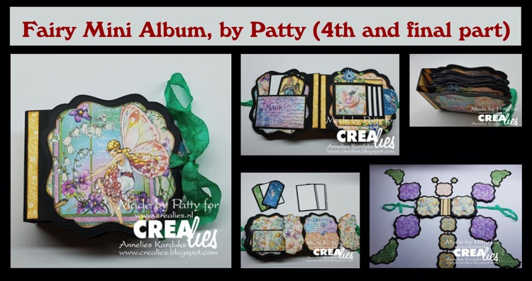 Crealies Fairy Mini Album , by Patty (4th and final part)