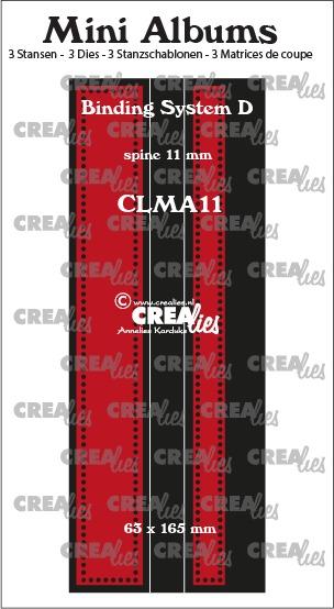Mini Albums Bindsysteem D (rug 11 mm) met kleine gaatjes