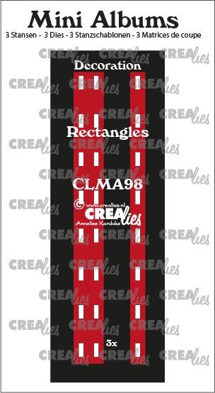 Decoratie voor mini album no. 98, rechthoekjes