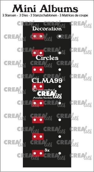 Decoratie voor mini album, cirkels