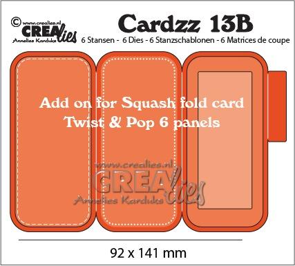 Aanvulling voor Squash fold card (CLCZ13) Twist & Pop 6 panels