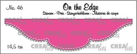 On the Edge stans no. 46, 14,5 cm met dubbele stiksteeklijn