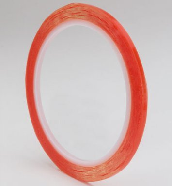 Red sticky tape 3 mm