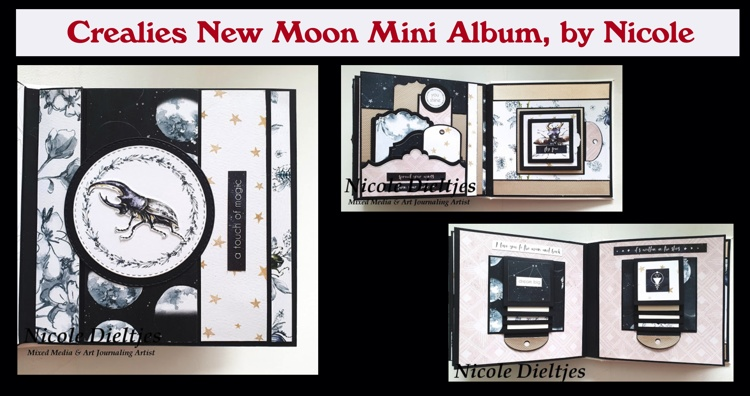 Crealies New Moon Mini Album, by Nicole