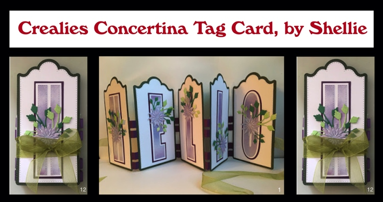 Crealies Concertina Tag Card, by Shellie