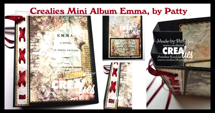 Crealies Mini Album Emma part 1, by Patty