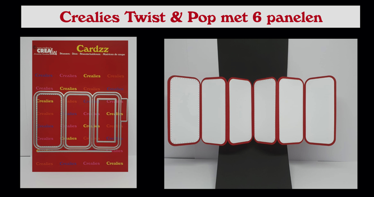 Crealies Twist And Pop with 6 panels (English spoken)
