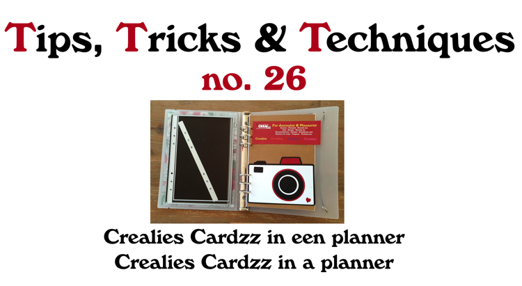 Crealies TTT no. 26: Crealies Cardzz in a planner