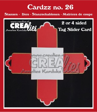 Cardzz stansen no. 26, 2- of 4-zijdige label schuifkaart