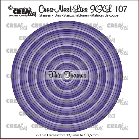 Crea-Nest-Lies XXL dies no. 107, Thin frames, circles (25x)