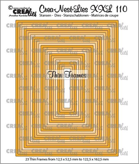 Crea-Nest-Lies XXL stansen no. 110, Dunne kaders, rechthoeken (23x)