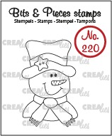 Bits & Pieces stamp no. 220, Snowman