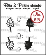Bits & Pieces stamp no. 219, Holly, leaves and berries