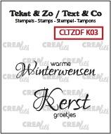 Tekst & Zo Duo Font stempels, Kerst no. 3