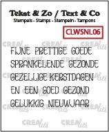 Tekst & Zo stempels, Woordstrips no. NL06: Kerst