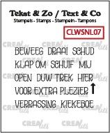 Tekst & Zo stempels, Woordstrips no. NL07: Beweeg