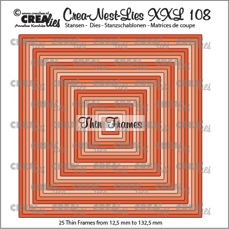Crea-Nest-Lies XXL dies no. 108, Thin frames, squares (25x)