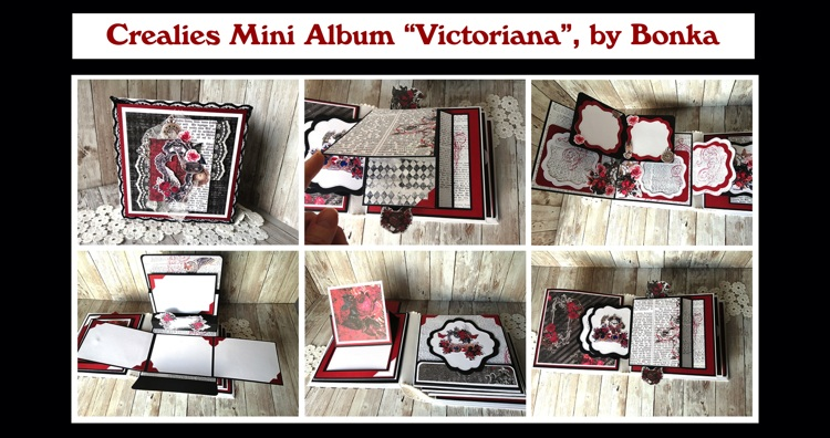"Crealies Mini Album ""Victoriana"", by Bonka"
