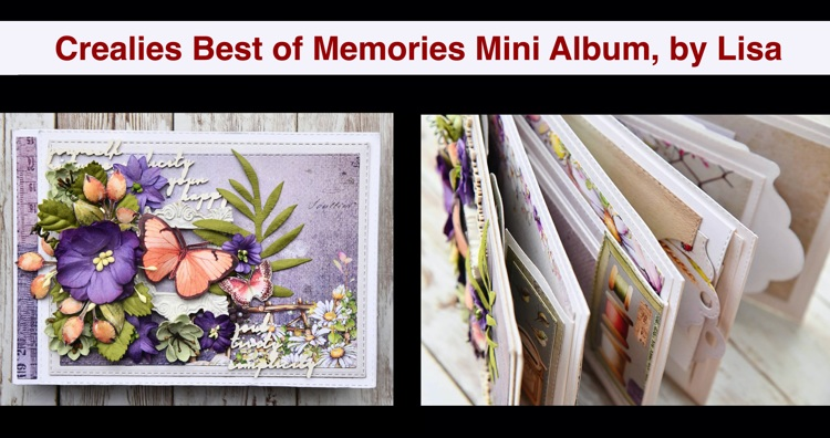 20 08 26 Crealies Best of Memories Mini Album, by Lisa