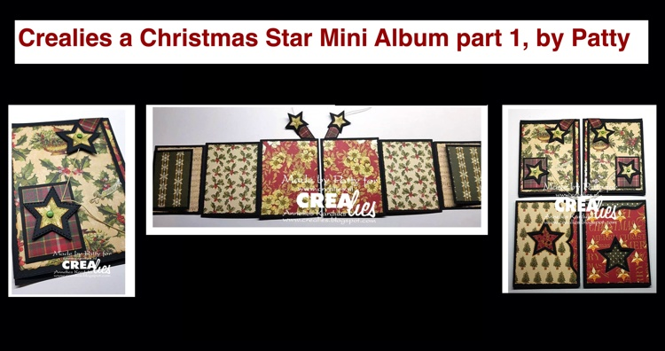 20 09 12 Crealies A Christmas Star Mini Album part 1, by Patty