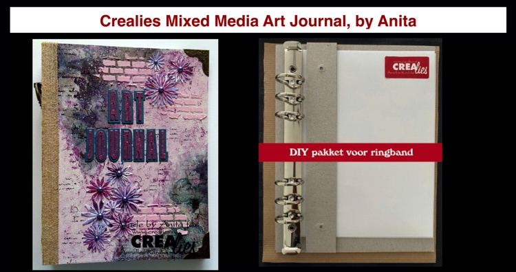 20 09 14 Crealies Mixed Media Art Journal , by Anita