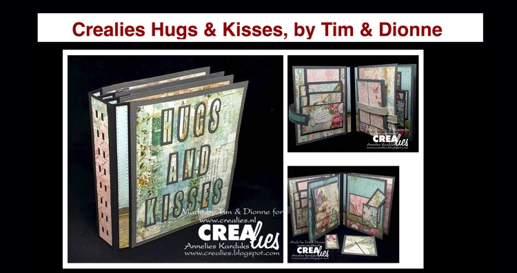20 09 19 Crealies Hugs & Kisses Mini Album, by Tim & Dionne