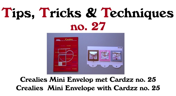 Crealies TTT no. 27: Crealies Mini Envelope with Cardzz no. 25