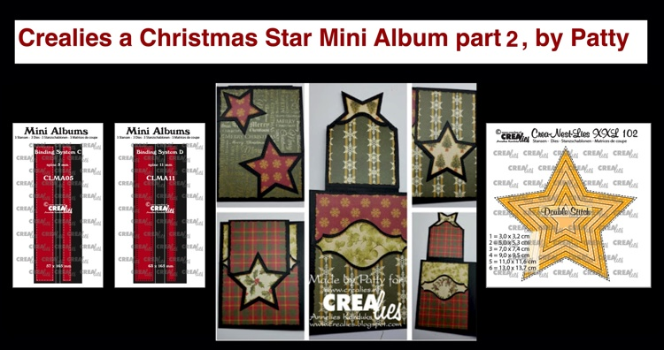 20 09 24 Crealies A Christmas Star Mini Album part 2, by Patty