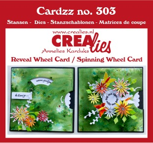Cardzz dies no. 303, Reveal Wheel/Spinning Wheel Card
