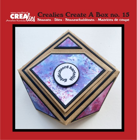 Create A Box dies no. 15, Gemstone box