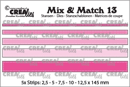 Mix & Match stansen no. 13, Strips met dots
