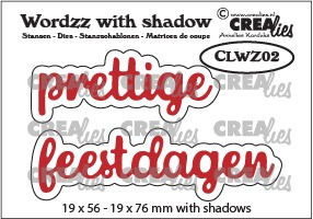 Wordzz stansen with shadow no. 02, prettige feestdagen