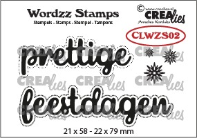 Wordzz stamp no. 02, prettige feestdagen