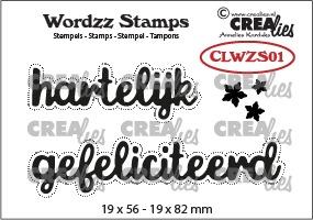 Wordzz stamps no. 01, hartelijk gefeliciteerd