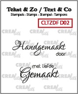 Text & Co Duo Font stamps, Dutch words