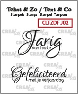 Text & Co Duo Font stamps no. 02, Dutch words