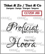 Text & Co Duo Font stamps no. 03, Dutch words