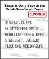 Tekst & Zo stempels, Woordstrips no. NL08: Ik wens jou een...