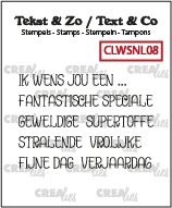 Text & Co stamps Wordstrips no. NL08, Dutch words